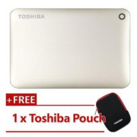 Ổ cứng gắn ngoài Toshiba 2TB Canvio Connect II - USB 3.0, Satin Gold - HDTC820AC3C1