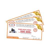 Thẻ mua hàng trị giá 500.000đ, dùng cho đơn bán lẻ trên 10 triệu