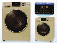 Máy giặt AQUA 10,0kg lồng ngang inverter AQD-DD1000AN(Bảng điều khiển cảm ứng,1400v/p,16 chương trình giặt,màu vàng kim)