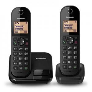 """Điện thoại bàn ko dây Panasonic KX-TGC412 Black, (1 máy mẹ - 1 tay con + 4 option), led 1.6"""",  lưu 50 số DT"""