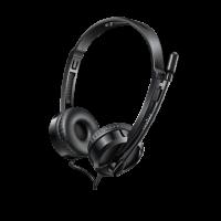 Tai nghe chụp đầu có dây Rapoo H100 - màu đen, 2 jack 3.5mm, mic cần