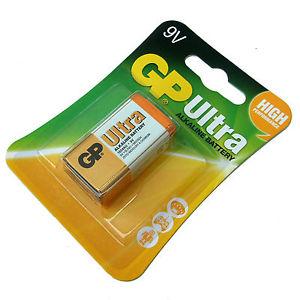 Pin vuông 9V GP Ultra Alkaline GP1604AU-2U1 - Size 6LR61; Made in China