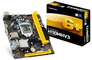 Bảng mạch chủ Biostar H110MHV3 - Intel H110/2*DDR3 1600Mhz/4*SATA3/1*PCI-e x16+1*PCI-e x1/LAN 1000/VGA, HDMI/Micro ATX