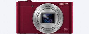 "Sony Cyber-shot WX500 - Red - 18.2MP; zoom 30x; LCD 3.0""; kết nối Wifi & NFC"