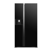 Tủ lạnh SBS Hitachi R-SX800GPGV0-GBK 633L / 573L ( inverter,màu kính đen,920x1795x720mm, làm đá tự động, nước+đá ngoài)