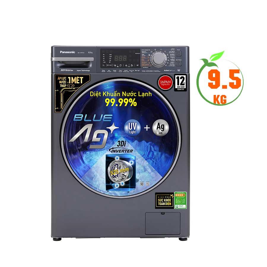 Máy giặt cửa trước Panasonic 9,5Kg Inverter NA-V95FX2BVT - Màu đen bạc - ;  1400rpm;14 Chương trình; Giặt nước nóng - Siêu thị điện máy CPN Việt Nam