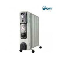 Máy sưởi dầu FujiE OFR4613 13 thanh , 2200W+400W(Fan),  núm vặn 3 chế độ, trắng