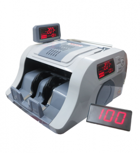 Máy đếm tiền đơn chức năng BALION NH-207, Hiển thị 3 màn hình LCD, có mặt số kéo dài, Tốc độ đếm: >1000 tờ/ phút