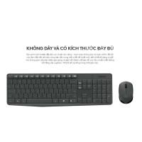 Bộ bàn phím chuột không dây Logitech MK235, mầu đen