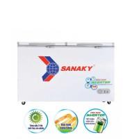 Tủ đông mát Sanaky 220L inverter VH-2899W3(2 ngăn:1 đông 1 mát,2 cánh,Dàn đồng,R600a,1080*620*845)
