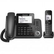 """Điện thoại bàn Panasonic KX-TGF320CX Black. LCD1.8"""", danh bạ 100 tên, loa ngoài, kế nối đc với 4 thiết bị tìm kiếm TGA20"""
