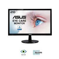 Màn hình Asus 19.5-inch VS207DF - TN 1366x768; 200cd/m2; 5ms; D-Sub; VESA Mount;12W