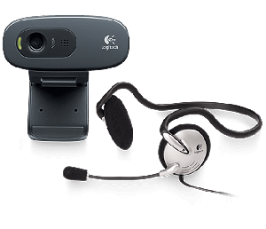 Webcam Logitech C270H  USB2.0, headset, HD video calling (1280 x 720 pixels) with recommended system