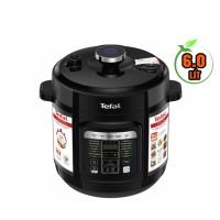 Nồi áp suất Tefal CY601868, 1000W, 6L, bảng hiện thị bàng LED, đen