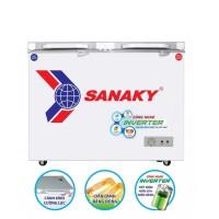 Tủ đông Sanaky 270L inverter VH-3699A4K(Kính cường lực,1 ngăn đông,2 cánh,Dàn đồng, R600a)