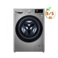 Máy giặt sấy LG 9.0Kg/5kg cửa trước AI DD™ FV1409G4V(Inverter,Giặt hơi nước Steam™,Cửa kính cường lực,Màu:Xám)