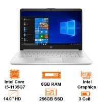MTXT HP 14s-DQ2545TU-46M23PA Intel Core i5-1135G7/8GB(2x4)/256GB SSD/14 HD/BT4.2/3C41WHr/W10H/Silver