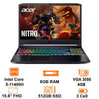 MTXT Acer Nitro 5 Eagle AN515-57-54MV Core i5-11400H/8GB/512GB SSD/15.6 FHD IPS 144Hz/VGA 3050 4GB/WF6/Win11H/Black(NH.QENSV.00)