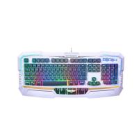 Bàn phím gaming LED có dây Newmen KB813 trắng xám - USB