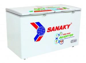 Tủ đông mát Sanaky 270L inverter VH-3699W3 (2 ngăn:1 đông 1 mát, 2 cánh, Dàn đồng, R600a,1215*620*845)