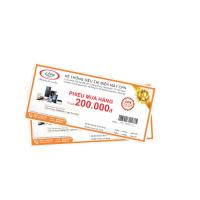 Thẻ mua hàng trị giá 200.000đ, dùng cho đơn bán lẻ trên 1 triệu