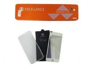 Bộ ốp lưng silicon + dán cường lực iPhone 7 8 - màu trắng - WK