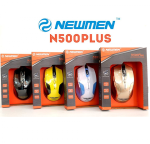 Chuột quang NEWMEN N500plus-YL (Vàng) - USB/6 nút/800-1600CPI/PixArt & 99GlassGo/MS-282OU