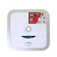 Bình nước nóng Ariston 30 Lít AN2 30R AG+ 2.5FE, 2500 W, công nghệ Ion Bạc diệt khuẩn, 1 đèn, bình vuông