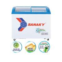 Tủ đông Sanaky 260L Inverter VH-3899K3(2 cánh kính cong lùa,dàn Đồng)