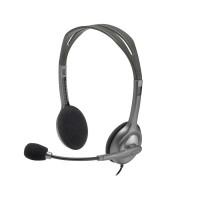 Tai nghe headphone chụp đầu Logitech H110  mầu đen - MIC, 2 jack 3.5mm
