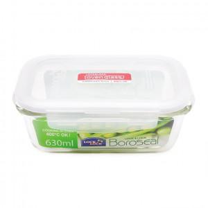Hộp bảo quản thực phẩm Lock & Lock chữ nhật LLG428 630ml ; Sz : 17.5 x 13 x 6.4cm