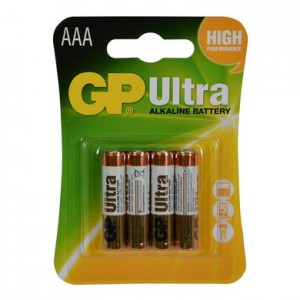 Pin đũa GP Ultra Alkaline GP24AUMB-2U4 - Size AAA; Vỉ 4 viên; Made in China