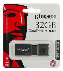 Kingston Digital 32GB 100 G3 USB 3.0 DataTraveler