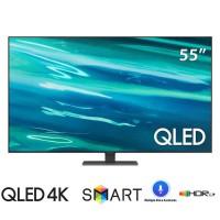 TV Samsung 55-inch QLED 4K Q80AA - Đèn Nền Direct Full Array,Bộ Xử Lý Lượng Tử Quantum 4K.Multiple Voice Assistants