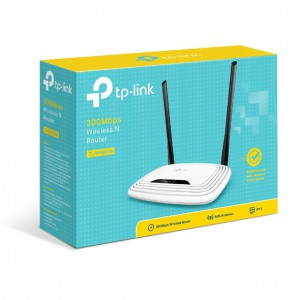 Router Wi-fi TP-Link TL-WR841N - 300Mbps; 4 LAN+1 WAN 10/100Mbps; 2× Fixed Antennas 5dBi