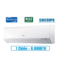 Điều hòa Gree Pular GWC09PB-K3D0P4 - Inverter 1 chiều 9000BTU; Real Inverter; Golden Fin; G-Clean; Gas R-32; 822W (cục nóng)