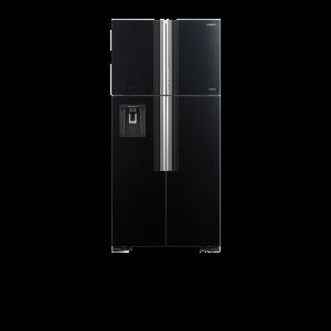 Tủ lạnh Hitachi 540L Inverter R-FW690PGV7X-GBK (4 cánh,Làm đá tự động&lấy nước bên ngoài,Bảng điều khiển cảm ứng,Đen thủy tinh)