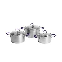 Bộ 3 nồi inox dành cho bếp từ Goldsun GH18-3306SG (Quai xanh)