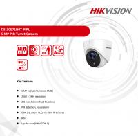 Camera HD-TVI bán cầu HikVision DS-2CE71H0T-PIRL - 5MP@20fps; hồng ngoại chống trộm 20m; thân nhiệt 11m; IP67