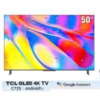 TV TCL 50-inch QLED 4K 50C725 - Tràn Viền ( hợp kim, Loa onkyo 19w, 65Hz, Android TV 11, tìm kiếm giọng nói rảnh tay