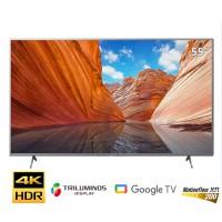 TV Sony 55-inch 4K X80J viền bạc - Google TV; LED nền; XR200; Triluminos Pro; BT4.2; Loa 2.0 20W;