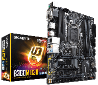 GIGABYTE™ GA-B360M-D3H- Intel B360 chipset - Socket LGA 1151 Support for Intel® 8th Gen Core™ i7/i5/i3/Pentium®/Celeron® LGA1151