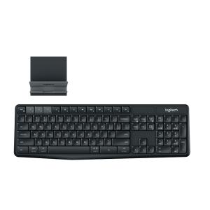 Bàn phím không dây Logitech K375s - Wireless 2.4GHz, Bluetooth smart,  đầu thu Unify USB, mầu đen