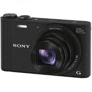 Máy ảnh Sony DSC-WX350/BC - Black - Cmos Exmor R 18.2MP; LCD 3.0; Zoom 20x; Wi-Fi + NFC; Pin NP-BX1