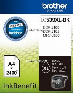 Hộp mực đen LC-539XL-BK cho máy DCP-J100/J105/MFC-J200  -  2.400 trang