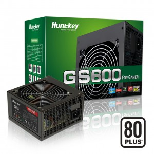 Nguồn Huntkey GS600 - 600W 80 Plus 3*SATA + 3*ATA + 1*6pin PCI-E + 1*8pin PCI-E, AFPC, Fan12