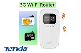 Bộ thu phát không dây Tenda TD-3G185 - 3G 21.6Mbps/download, 5.76Mbp/upload, microSD, 8 users, pin 2000mAh