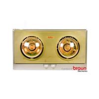 Đèn Sưởi Nhà Tắm Braun Kohn plus 2 Bóng Vàng (KP02G), 550W