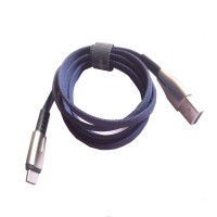 Type-C cable Rock Space M2 Zn-alloy - 1200mm, 2A, có đèn