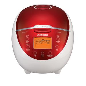 Nồi cơm điện tử Cuckoo - Hàn Quốc màu trắng đỏ; 1.2 lít. 110Vbảo hành 2 năm
